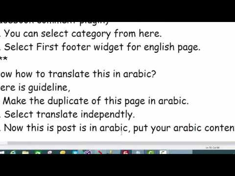 Add english & arabic content in Wordpress Post/Page