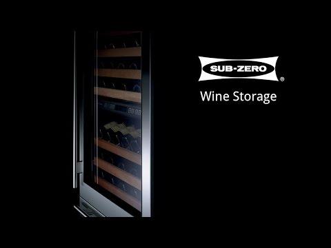 Sub Zero Wine Storage