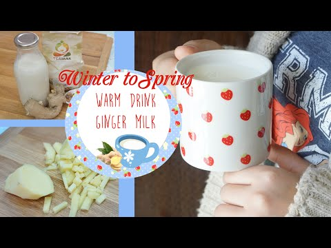 Warm Ginger Milk || Winter to Spring drink!