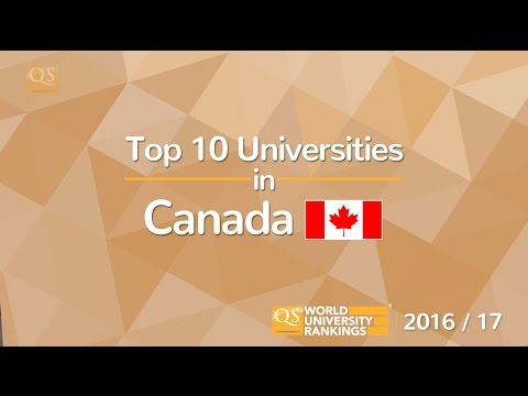 Top 10 Universities in Canada 2016/17
