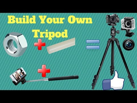 Building a Cheap and Durable portable Tripod stand for Camera at home..!!!!