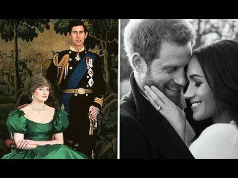 Spot the difference: Diana and Prince Charles' engagement photo and Harry and Meghan