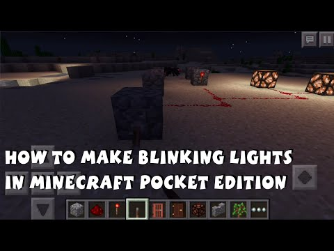 How to Make Blinking Lights in Minecraft Pocket Edition 0.13.0 - Redstone Tutorial