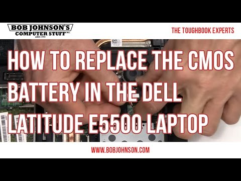 How to replace the CMOS Battery in the Dell Latitude E5500 Laptop