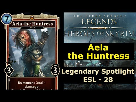 The Elder Scrolls Legends - #28 Aela the Huntress! (Heroes of Skyrim - Werewolf)