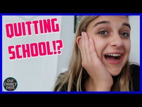 I'M QUITTING SCHOOL! ONE MORE WEEK TO GO!