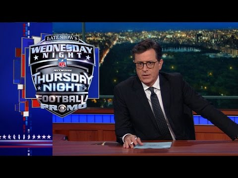 Late Show's Wednesday Night Thursday Night Football Promo