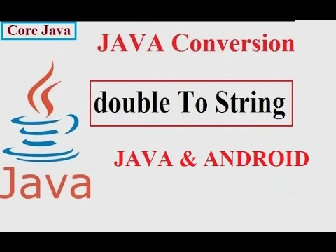 How to convert double to string in java Example