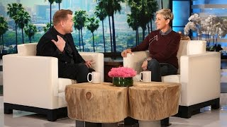 James Corden Visits with Ellen