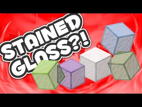 HOW TO MAKE STAINED GLASS IN MCPE (Minecraft PE)