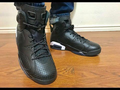 Jordan Retro 6 Black Cat  on feet review Very dope colorway imo!
