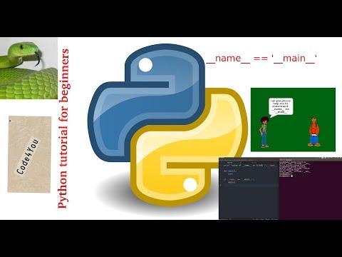 python  __name__ == '__main__' ||Python Tutorial #18 || Python Tutorial for Beginners