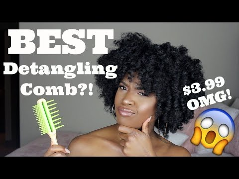 OMG!!! Did I find the BEST Detangling Comb EVER?! | Type 4 Natural Hair