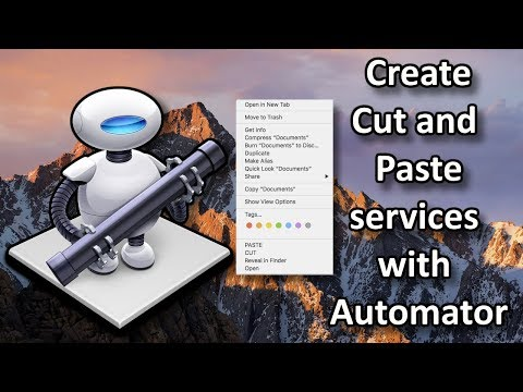 macOS : Create CUT and PASTE Services with Automator