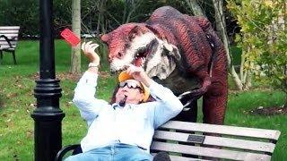 Epic Real Life Dinosaur Hidden Camera Practical Joke