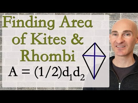 Finding Area of Kites and Rhombi