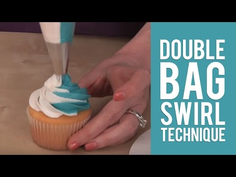 Create Easy and Fun Cupcakes using the Double Bag Swirl Technique