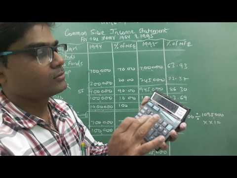 Study of Financial Statement (Common size  Statement ) Lecture - 4 by Rakesh Sir