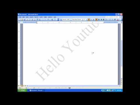 How to add watermark in Microsoft Word (beginners) !