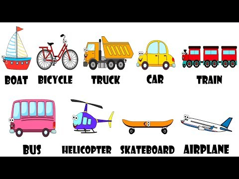 Vehicles Transportation Song For Kids