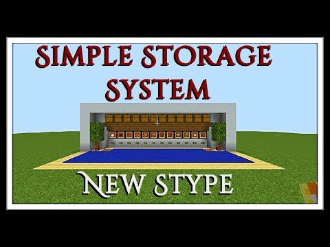 Minecraft Tutorial : Simple Dispenser Storage System
