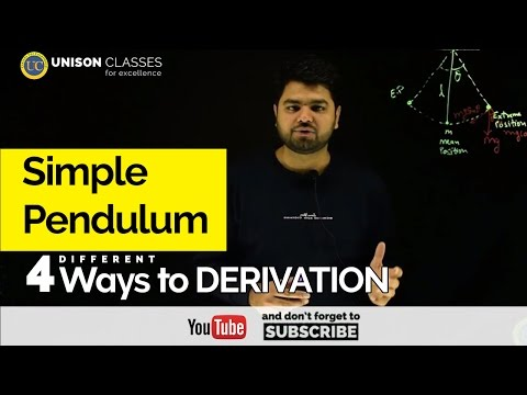 Simple Pendulum Derivation   Class 11 Physics