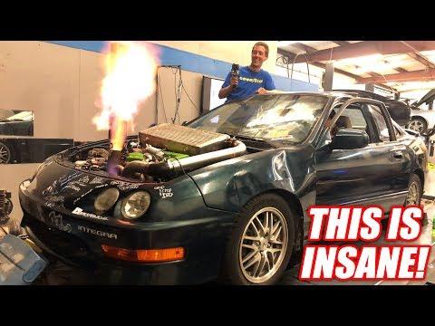 Introducing The World's Fastest Demolition Drag Racing Car! (Boostedboiz Built)