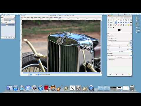 How to crop a picture in Gimp using the rule of thirds