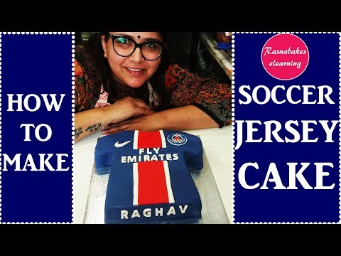 how to make Soccer Jersey Cake : Cake Decorating tutorial