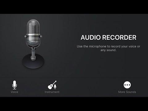 Audio Recorder - Recording Using Microphone in GarageBand iOS (iPhone/iPad) - Quick Jam #29
