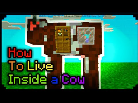 Minecraft PE 1.2 | How To Live Inside a Cow! (Pocket Edition, Ps4/Ps3, Wii U, Switch)