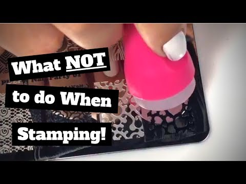 ❌ What NOT to do When Stamping ❌