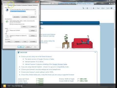 Browser Security Settings - Internet Explorer