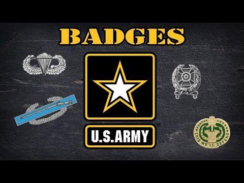 Explaining US Army badges