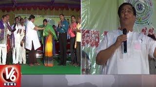 Govt Advisor KV Ramana Chary Attends District Level Bhajan Competitions In Kamareddy   V6 News
