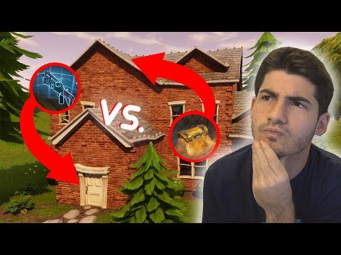 Should you land on top or bottom of houses in Fortnite?