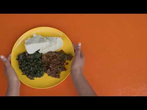 Shamba Bites - Ugali with Terere, Managu and Beef