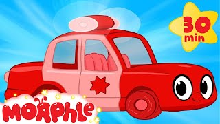My Red Police Car - My Magic Pet Morphle Compilation with Police Vehicle Videos for Kids!