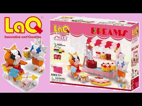 LaQ Suite Dreams Cats + Dessert Collection from Japan - Japanese-style