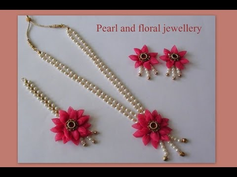 Do it yourself pearl and floral jewellery