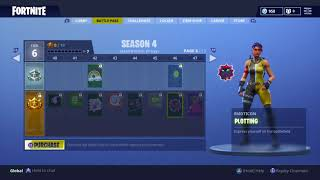 all skins and items season 4 battle pass 100 tier fortnite battle royale - fortnite 100 tier skins
