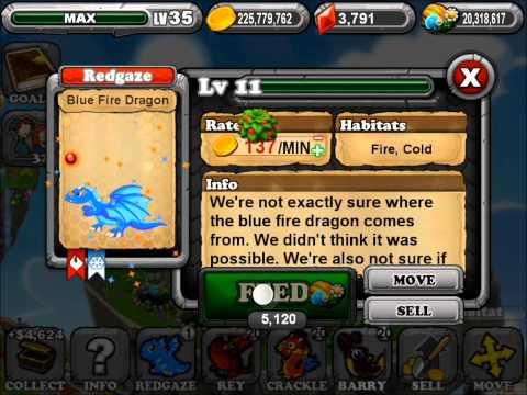 DragonVale How to Breed BlueFire Dragon + King Dragon