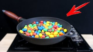 EXPERIMENT What Happen if You Drop M&M's into HOT PAN