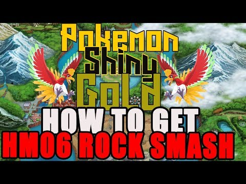 How To Get HM06 Rock Smash Pokemon Shiny Gold Sigma