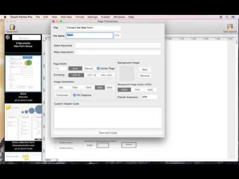 How to rename web form title and file name using Touch Forms Pro for Mac