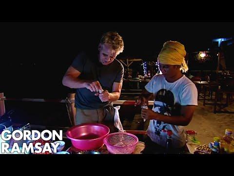 Gordon Ramsay Helps Prepare Clams In Vietnam | Gordon's