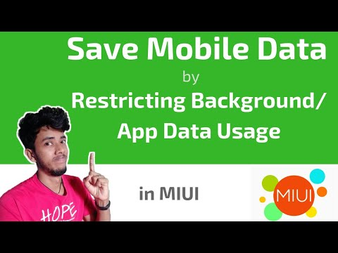 Save Mobile Data by Restricting Background/App Data Usage in MIUI