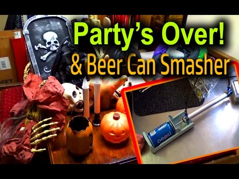 Halloween Hangover and Pneumatic Can Crusher Fail