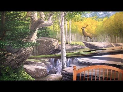 How To Paint A Forest Mural - PART 1 - Sketching