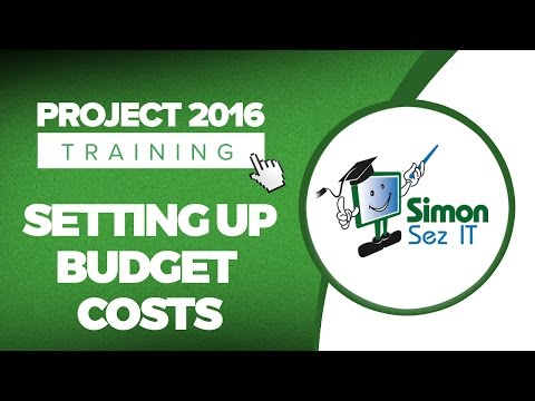 How to Setup Budget Costs in Microsoft Project 2016